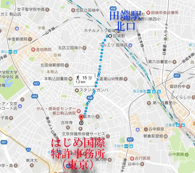 田端駅から